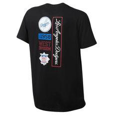 LA Dodgers Majestic Codey T-Shirt Black S, Black, rebel_hi-res