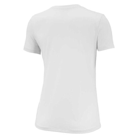 Nike Womens Dri-FIT Legend Training Tee, White, rebel_hi-res