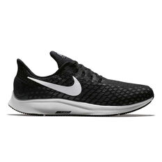 Nike Air Zoom Pegasus 35 4E Mens Running Shoes Black / White US 7, Black / White, rebel_hi-res