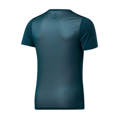 Reebok Mens Workout Ready ACTIVCHILL Graphic Tee Green XS, Green, rebel_hi-res