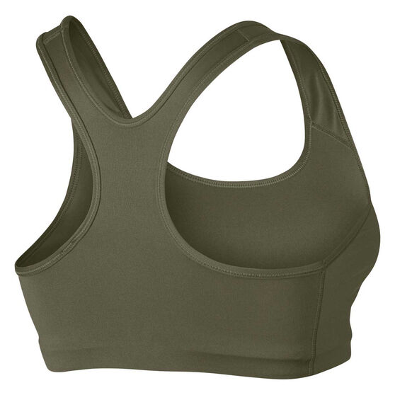 Nike Womens Swoosh Sports Bra Green XL, Green, rebel_hi-res