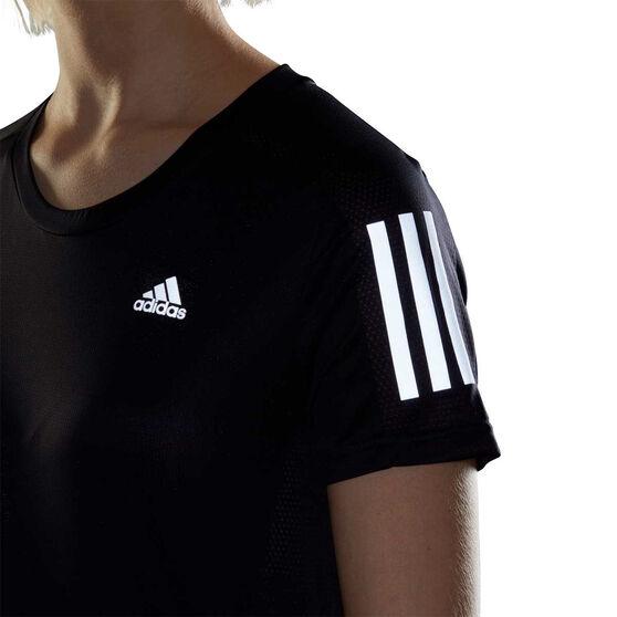 adidas Womens Own the Run Tee, Black, rebel_hi-res