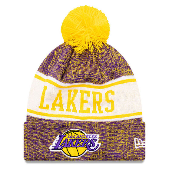 Los Angeles Lakers New Era Pom Knit Beanie, , rebel_hi-res