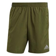 adidas Mens Own The Run 2 in 1 Running Shorts Khaki XS, Khaki, rebel_hi-res