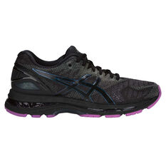 Asics GEL Nimbus 20 Lite Show Womens Running Shoes Black / Black US 6, Black / Black, rebel_hi-res