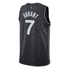 Nike Brooklyn Nets Kevin Durant 2020/21 Mens Earned Jersey Black S, Black, rebel_hi-res