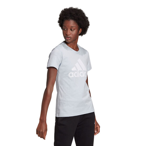 adidas Womens Essentials Logo Tee, Blue, rebel_hi-res