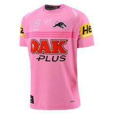 Penrith Panthers 2021 Mens Away Jersey Pink S, Pink, rebel_hi-res
