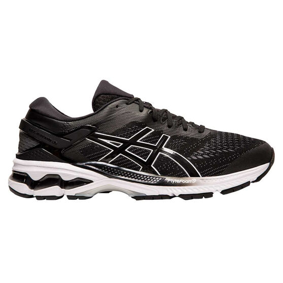 Asics GEL Kayano 26 Mens Running Shoes, Black / White, rebel_hi-res
