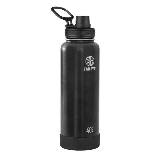 Takeya Actives Insulated Water Bottle 1.2L Slate, Slate, rebel_hi-res