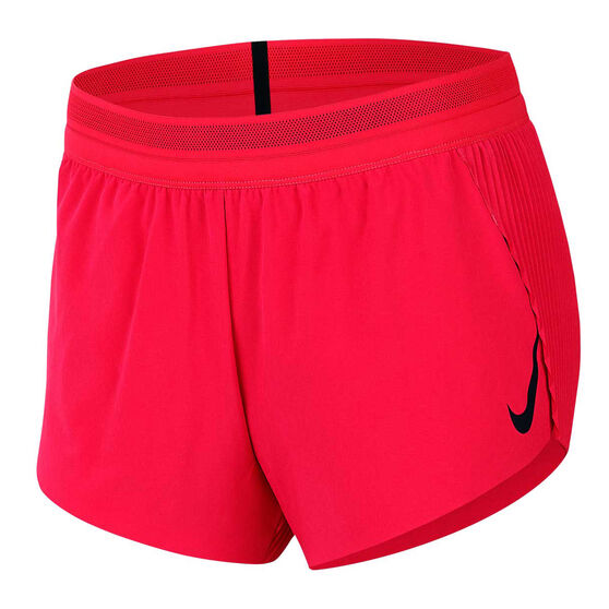 Nike Womens AeroSwift Running Shorts, Red, rebel_hi-res