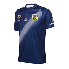 Central Coast Mariners 2018 / 19 Mens Away Jersey Navy / Blue S, Navy / Blue, rebel_hi-res