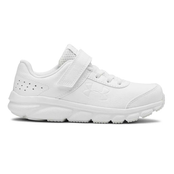 Under Armour Assert 8 Uniform Kids Running Shoes, White, rebel_hi-res