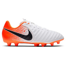 Nike Tiempo Legend VII Club Kids Football Boots White / Black US 10, White / Black, rebel_hi-res