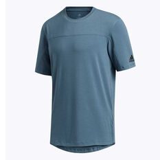 adidas Mens City Base Training Tee, Blue, rebel_hi-res