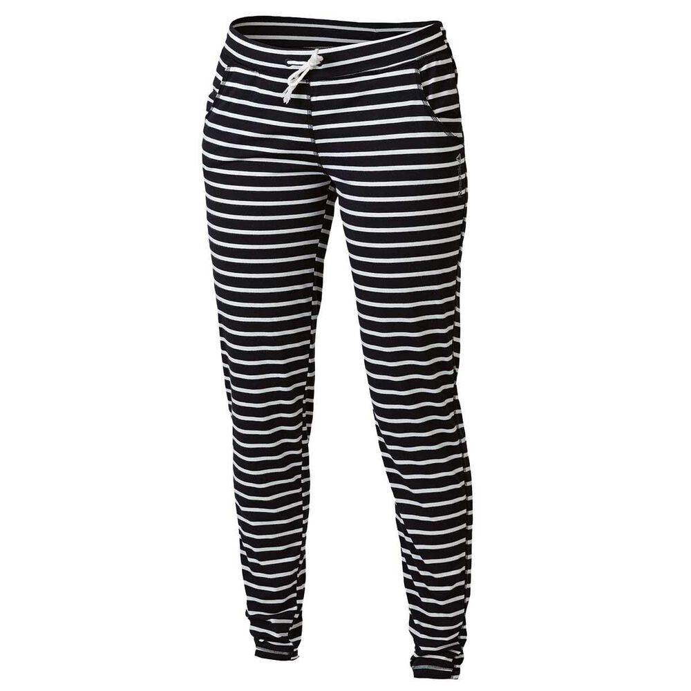 d3c1d65073a5c7 Reebok Womens Yoga Stripe Training Pants Black   White M Adult ...