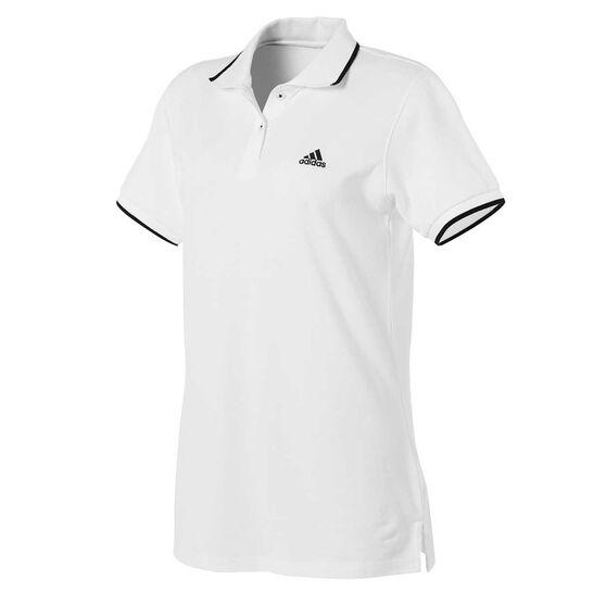adidas Womens Sport 2 Street Polo, White, rebel_hi-res