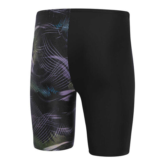 Speedo Mens Leisure Orion Waterboy Swim Shorts, Black/Blue, rebel_hi-res