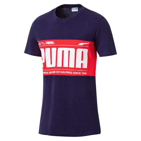 Puma Mens Graphic Black Tee, , rebel_hi-res