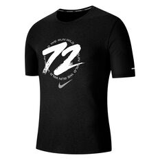 Nike Mens Dri-FIT Miller Wild Run Running Tee Black S, Black, rebel_hi-res
