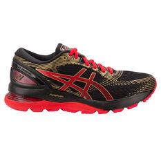 Asics GEL Nimbus 21 Womens Running Shoes Black / Red US 6, Black / Red, rebel_hi-res