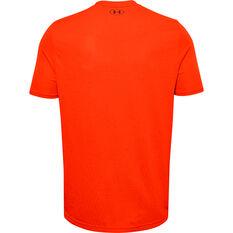 Under Armour Mens Seamless Tee Orange S, Orange, rebel_hi-res