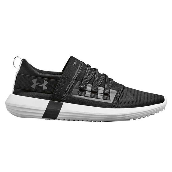 Under Armour Adapt Womens Casual Shoes, Black / White, rebel_hi-res