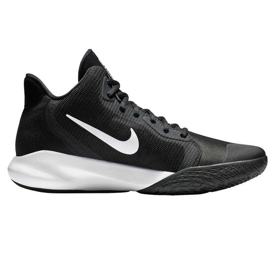 Nike Precision III Mens Basketball Shoes, Black / White, rebel_hi-res