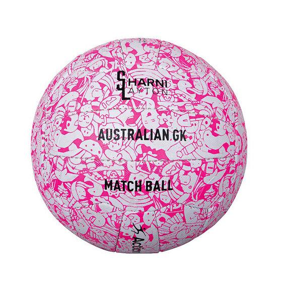 Sharni Layton Match Netball Pink / White 4, Pink / White, rebel_hi-res