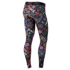 Nike Womens Victory Hyper Flora Training Tights Print XS, Print, rebel_hi-res