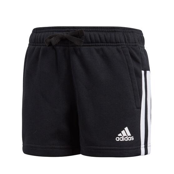 adidas Girls Essentials 3-Stripes Mid Shorts, Black / White, rebel_hi-res