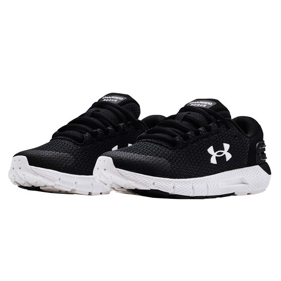 Under Armour Charged Rogue 2.5 Reflect Womens Running Shoes, Black/White, rebel_hi-res