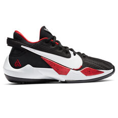 Nike Zoom Freak 2 Kids Basketball Shoes Black/White US 4, Black/White, rebel_hi-res