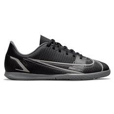 Nike Mercurial Vapor 14 Club Kids Indoor Soccer Shoes Black/Grey US 1, Black/Grey, rebel_hi-res