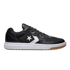 Converse Rival Leather Ox Mens Casual Shoes Black / White US 8, Black / White, rebel_hi-res