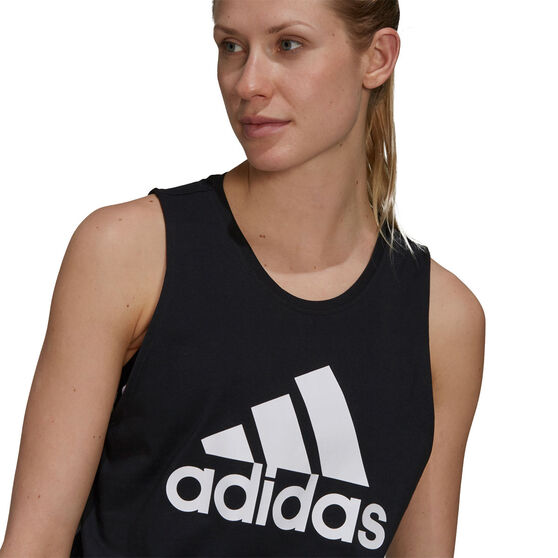 adidas Womens Essentials Big Logo Tank, Black, rebel_hi-res