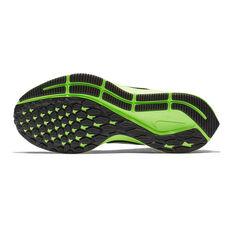Nike Air Zoom Pegasus 35 Kids Running Shoes Black / Green US 1, Black / Green, rebel_hi-res