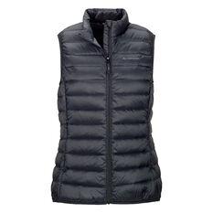Macpac Womens Uber Light Down Vest, Black, rebel_hi-res