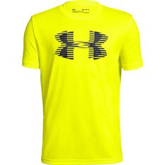 Under Armour Boys VT Tech Big Logo Tee Yellow / Grey XS, Yellow / Grey, rebel_hi-res