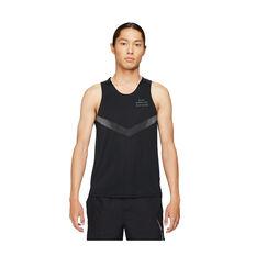 Nike Mens Run Division Rise 365 Tank Black S, Black, rebel_hi-res
