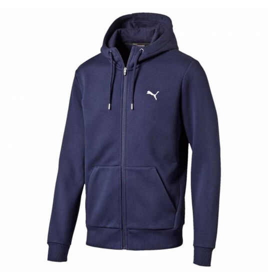 Puma Mens Essential Full Zip Hoodie, Navy, rebel_hi-res
