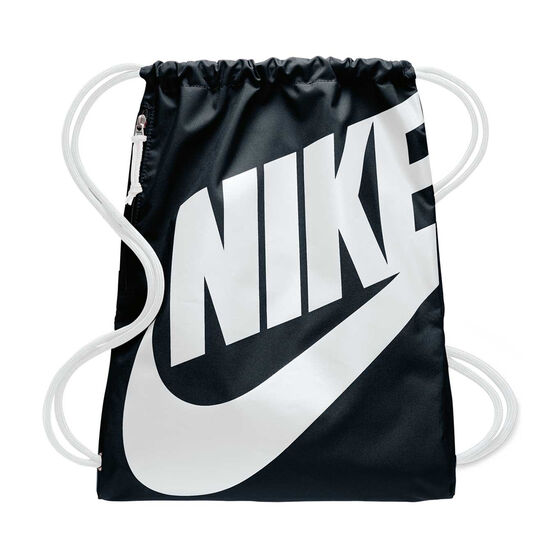 Nike Heritage Gym Sack Black / White, , rebel_hi-res