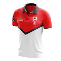 St. George Illawarra Dragons 2018 Mens Media Polo, , rebel_hi-res