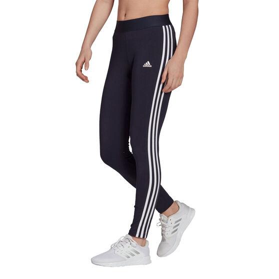 adidas Womens Loungewear Essentials 3-Stripes Tights, Navy, rebel_hi-res