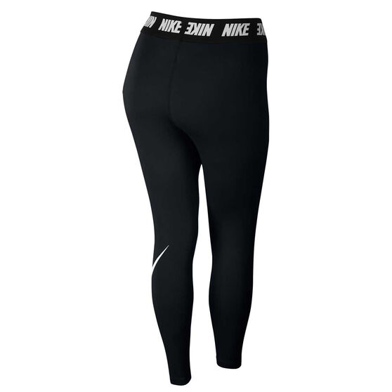 Nike Womens Sportswear High Waisted Leggings Plus, Black, rebel_hi-res