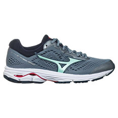 Mizuno Wave Rider 22 D Womens Running Shoes Grey / Teal US 6, Grey / Teal, rebel_hi-res