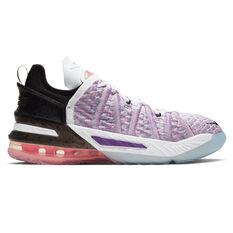 Nike LeBron XVIII Kids Basketball Shoes Purple US 4, Purple, rebel_hi-res