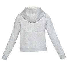 Under Armour Womens Rival Fleece Full Zip Hoodie Grey XS, Grey, rebel_hi-res