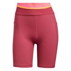adidas Womens Techfit High-Rise Short Tights Pink XS, Pink, rebel_hi-res
