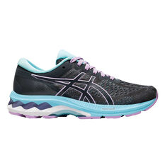 Asics GEL Kayano 27 Kids Running Shoes Grey US 1, Grey, rebel_hi-res